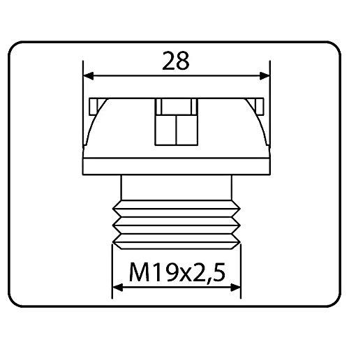 CNC /Ölstopfen Puig Honda VFR 800 F 98-15 silber
