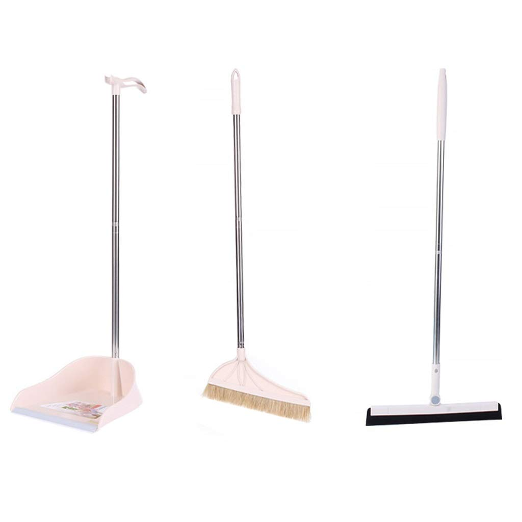 Lsxlsd Brush Long Handle Broom And Upright Broom Set For Home Lobby Store Upright BroomDustpan And Brush Set With Stiff Bristle Broom (Color : Two-piece beige set) by Lsxlsd