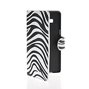 MOONCASE Zebra style Flip Leather Wallet Card Slot Pouch Stand Case Cover For Samsung Galaxy A5