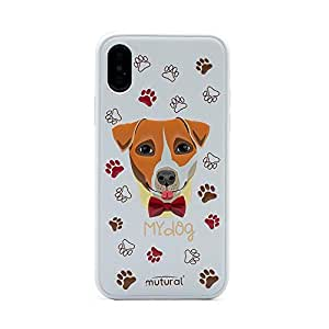 Mutural Fashion Case for iPhone Xs Max Dog/White color