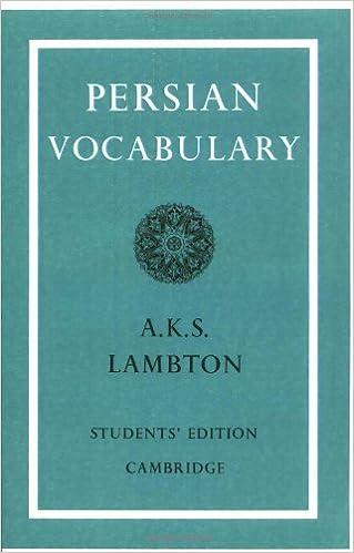 Persian vocabulary ann k s lambton 9780521091541 amazon books persian vocabulary student ed edition fandeluxe Images
