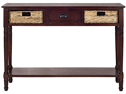 (Safavieh American Homes Collection Christa Cherry Console Table with Storage)
