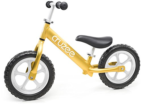 Cruzee Ultralite Balance Bike (4.4 lbs) for Ages 1.5 to 5 Years | Gold - Best Sport Push Bicycle for 2, 3, 4 Year Old Boys & Girls- Toddlers & Kids Skip Tricycles on The Lightest First Bike