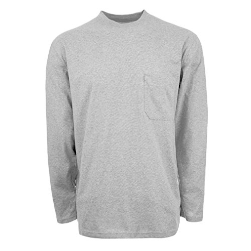 Insect Shield Men's UPF Dri-Balance Long Sleeve Pocket Tee, Heather Grey, Large