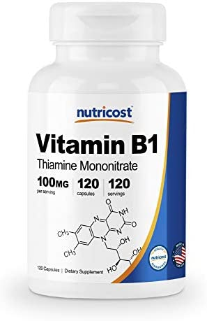 Nutricost Vitamin Thiamine 100mg Capsules product image