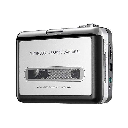 Bon Venu Cassette Player - Portable Tape Player Captures MP3 Audio Music Via USB - Compatible with Laptops and Personal...
