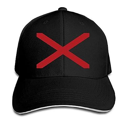 Ws WellShopping USA Alaba Flag Element Design Custom Sandwich Peaked Cap Unisex Baseball Hat