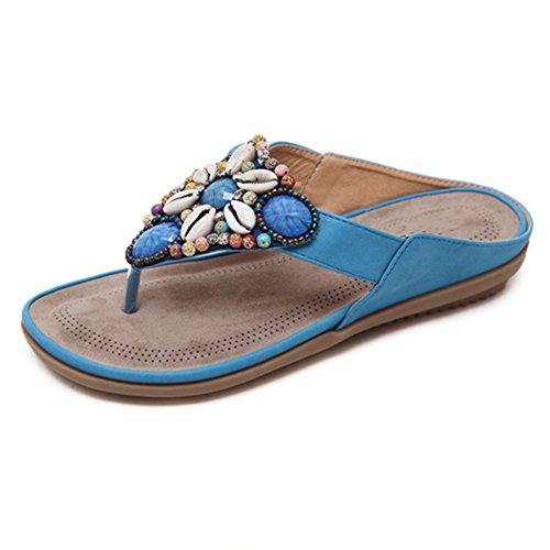 ciabatte suole AJZGF tendine sandali di manzo premaman alla antiscivolo scarpe con Infradito 41 e comode D casual D morbide piatte moda Colore dimensioni qTIEIra