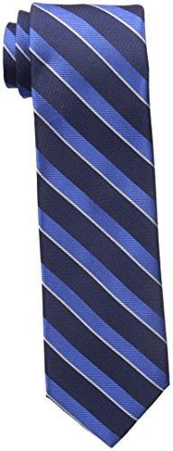Tommy Hilfiger Men's Twill Stripe Tie, Navy, One Size (Tie Stripe Twill)