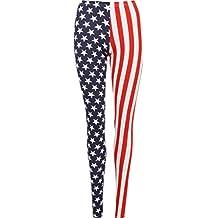 RM Fashions Womens Plus Printed Full Leggings (Size CA 4 Small- US 18 Plus)