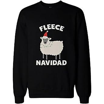 Amazon.com: Fleece Navidad Funny Christmas Graphic Sweatshirts ...