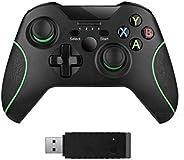 xuelili Controles sem fio para Xbox One, gamepad sem fio para PC com adaptador sem fio de 2,4 GHz, compatível