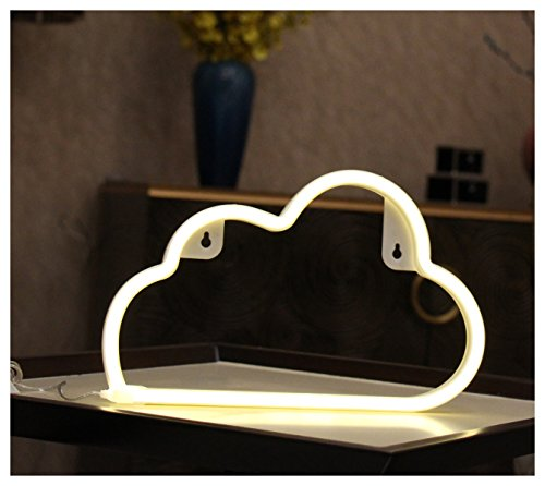 3D Cloud Lamp Lighting Bedrooms Lamp Night Light, YiiY Led Night Lamp Table Lamp, Wall Light with Manual On/Off (Cloud-Warm White) Neon Lamp Light