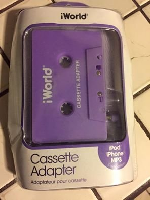 iWorld Cassette Tape Adapter for iPod, iPhone, iPad, Galaxy, Android and MP3 -Black (Best Tape Adapter For Ipod)