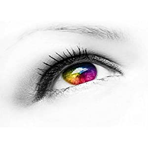 MP PHOTOGRAPHY COMPOSITION EYE EYEBALL COLOURED CONTACT LENS 18x24 INCH ART POSTER PRINT PICTURE LV6575