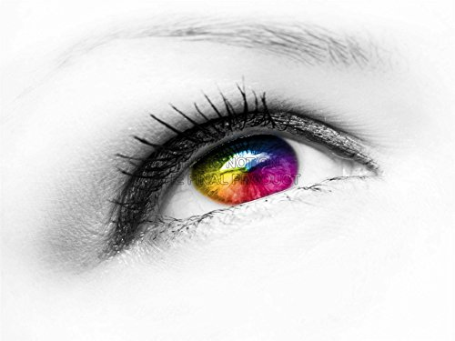 Coloured Contact Lenses Uk (MP PHOTOGRAPHY COMPOSITION EYE EYEBALL COLOURED CONTACT LENS 18x24 INCH ART POSTER PRINT PICTURE LV6575)