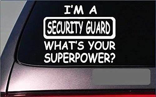 CELYCASY Security Guard Superpower StickerG445 8