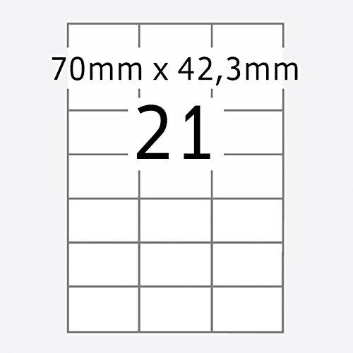 TOP STICK 8708 Universal-Etiketten, 70 x 42,3 mm, weiß , 100 Blatt