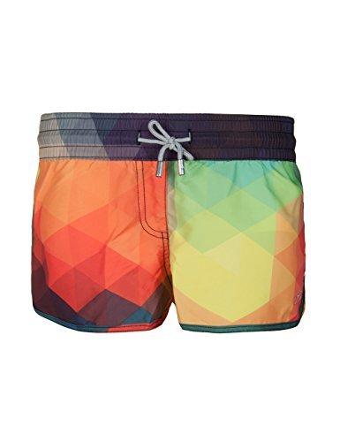 SURF CUZ Women's Prisma Board Short Quick Dry Fabric Women Swim Shorts...