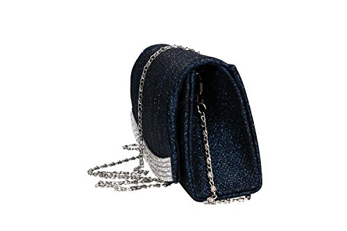 woman ceremonies for blue with strass VN2320 SISSI pochette Purse OxwAC7qq