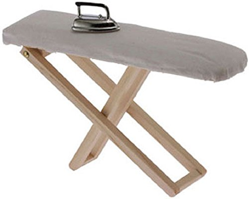 Dollhouse Miniature Ironing Board with Iron