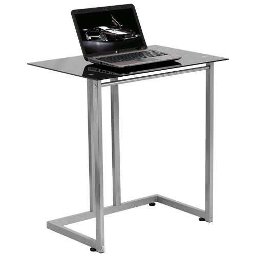 Flash Furniture Black Tempered Glass Computer Desk