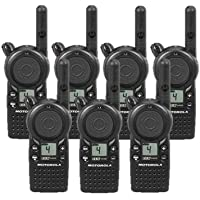 7 Pack of Motorola CLS1410 Two-way Radios with Programming Video