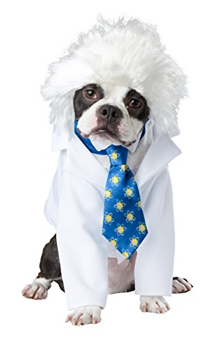 Lab Coat Costume For Dog (California Costume Collections PET20150 Al-Bark Einstein Dog Costume, X-Small)