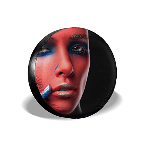 TY333 Model Makeup Face Paint Face Green Eyes Fashion Tire Cover Polyester Universal Vehicle Accessories