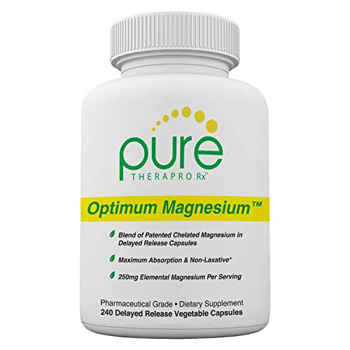 Optimum Magnesium – 240 Vegetable Capsules | Contains: 250 mg Elemental Magnesium (Traacs® Magnesium Lysyl Glycinate Chelate, Di-magnesium Malate) and 830 mg of Malic Acid (As Di-magnesium Malate) *Both Formulated for Enhanced Absorption* | Non-Buffered and FREE OF Magnesium Stearate! | Pharmaceutical Grade