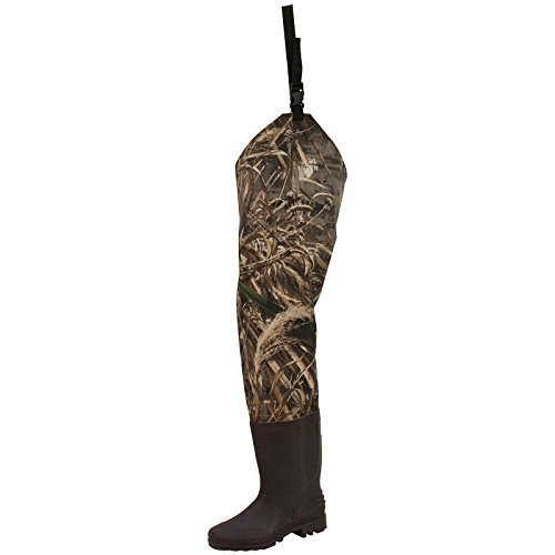 Camouflage Waders - Frogg Toggs Rana II PVC Bootfoot Camo Hip Wader, Cleated Outsole, Realtree Max5, Size 9