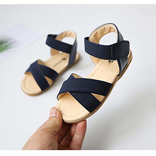 Scothen Niñas strappy sandalias zapatos de verano zapatos casuales zapatos de las sandalias de playa sandalias sandalias romanas los niños zapatos princesa del flip-flop los zapatos la bailarina Blue