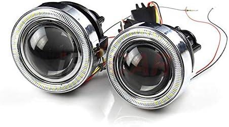 ZHUOYUE HID Proyector de luz antiniebla bi-xenón con Halos LED ...