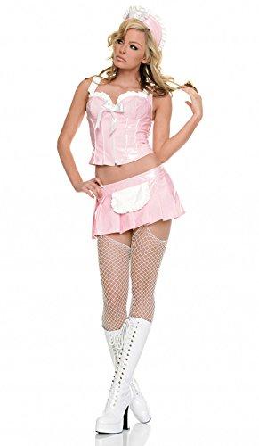 Vinyl French Maid Costume - 3