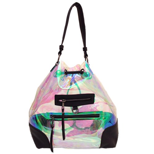 Drawstring Bubble (16 Bubbles Backpack Clear Hologram Drawstring Cross body)