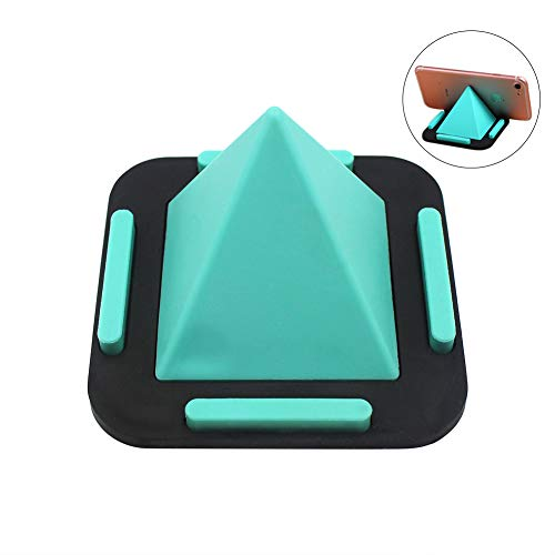 Pedestal 0.75 Top - Amamcy Creative Pyramid-Shaped Cell Phone Holder Fours Positions Desktop Stand for iPhone XR/X/6/8/7 Plus,iPad, Smart Phone and Most