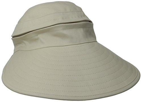 physician-endorsed-womens-naples-cotton-packable-cap-visor-rated-upf-50-khaki-one-size