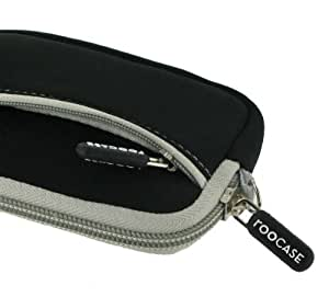rooCASE Neoprene Sleeve (Black) Carrying Case for Canon PowerShot S95 Compact Digital Camera