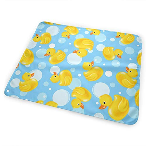 FnH88Ee Yellow Duck Baby Crib Pee Mat Washable Urine Bed Pads Absorbent Reusable - Changing Pad Waterproof Mattress Protector for Toddler Kids Infant Pets Incontinence ()