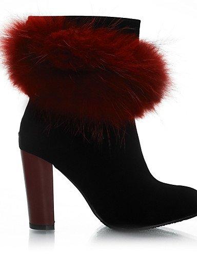 Moda Sintético 5 us10 us6 Beige Mujer Eu37 Zapatos Botas Redonda Beige Ante Vestido A 5 Cn43 Casual Punta Tacón Negro Rojo Red Eu42 Robusto Uk8 La 7 Cn37 5 Uk8 Xzz 5 5 De Uk4 HFn6pxx
