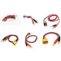 [QTY: 1] 5.5MM to Banana Plug Charge Lead Adapter 5.5MM-CHR [QTY: 1] XT90 4.0mm Connector Charger Cable Wire Li-Po Battery Power Supply Charging XT-90 LiPo RC FPV [QTY: 1] XT60 w/ Male 4mm (1pc) [QTY:
