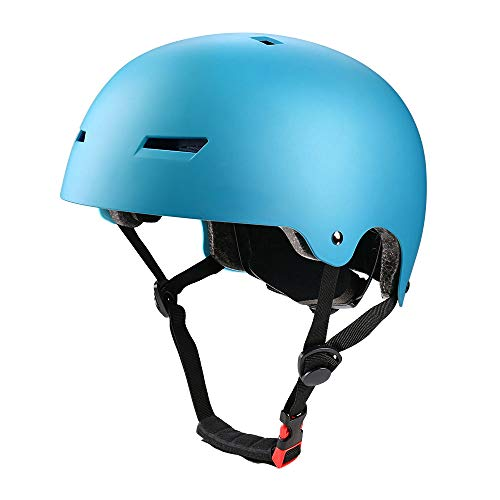 (PHZING Kid's Bike Helmet with Adjustable System Ideal for Skateboard Longboard Scooter Skate/Inline Skating for Adults/Youth/Kids (Blue, Small))