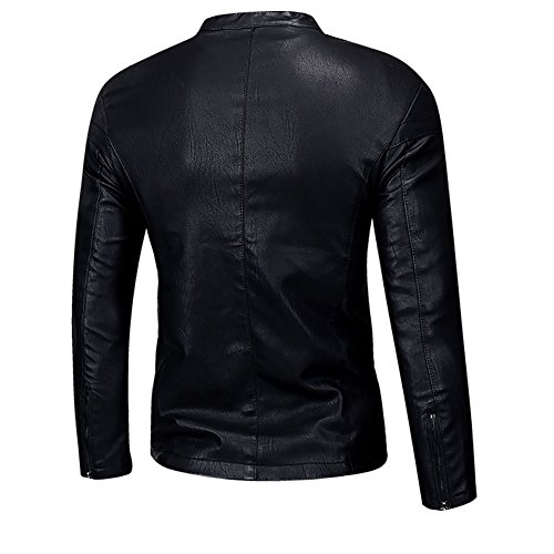 Pu Manteau Harrington Veste Polaire Slim Smart Fit Noir02 Cuir Mens Vestes xzwdP1xH