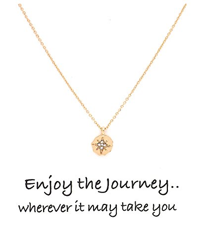 Disc Pendant Chain Necklace With Make a Wish Message Card (Shamrock Pendant)
