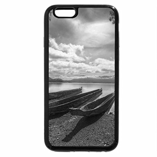 iPhone 6S Plus Case, iPhone 6 Plus Case (Black & White) - Canoeing on the river
