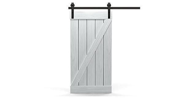 DURAGADGET Pomos Puerta Corredera el diseño clásico de Z, madera puerta corredera como Juego completo, Puerta hojas unidad Incluye riel, mango, ajustable elevadores, Blanco: Amazon.es: Bricolaje y herramientas