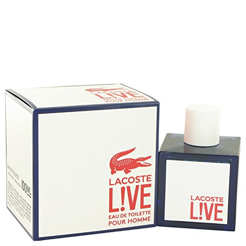 Lacost live cologne for men by lacost 34 oz eau de toilette spray a free ralph rocks 17 oz shower gel