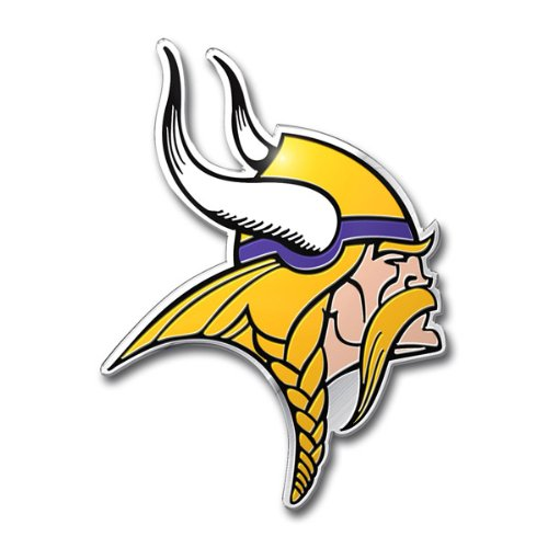 NFL Minnesota Vikings Die Cut Color Automobile Emblem (Hard Hat Vikings Minnesota)
