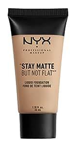 NYX PROFESSIONAL MAKEUP Stay Matte but not Flat Liquid Foundation, Soft Beige, 1.18 Fluid Ounce