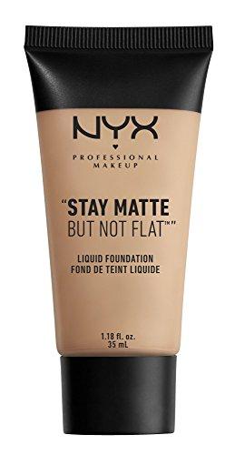 NYX PROFESSIONAL MAKEUP Stay Matte but not Flat Liquid Foundation, Soft Beige, 1.18 Fluid ()